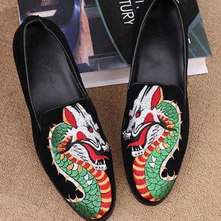 Thêu trên giày, dép